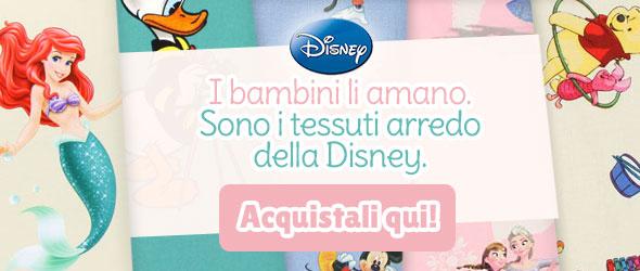 Per i fan dei film d'animazione Disney: tessuti arredo con motivi Disney