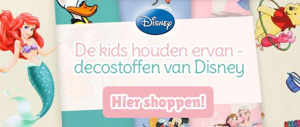 Voor fans van Disney-films: Decostoffen met Disney-motieven