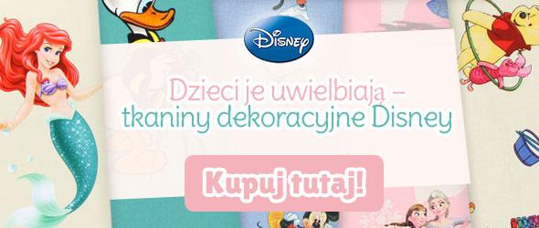 Dla fanów filmów Disneya: tkaniny dekoracyjne z postaciami Disneya