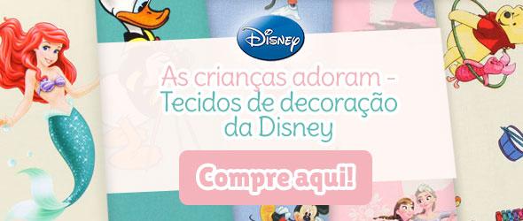 Para os fãs dos filmes da Disney: Tecidos de decoração com desenhos da Disney