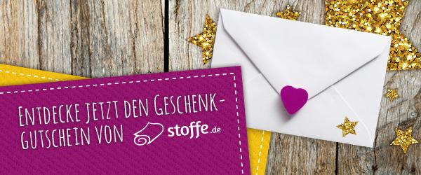 Perfekt als Geschenk: Der Geschenkgutschein von stoffe.de=