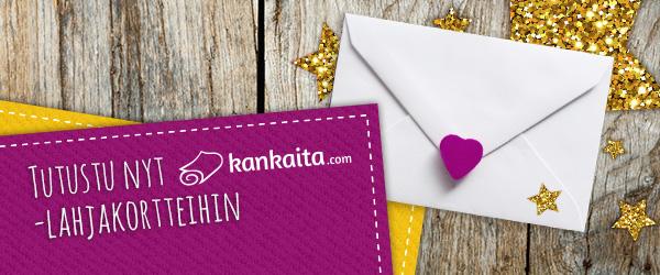 Täydellinen lahja: Kankaita.comin lahjakortit=