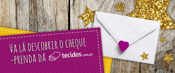 Um presente perfeito: cheques-prenda da tecidos.com.pt=