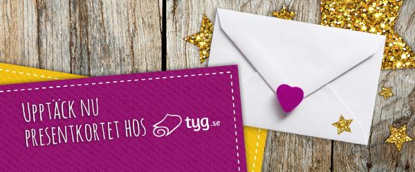 Perfekt som present: Presentkortet från tyg.se=