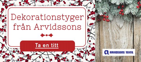 Dekorationstyger från Arvidssons - för alla som gillar skandinavisk design