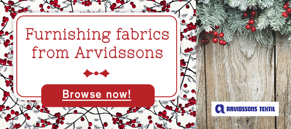 Furnishing fabrics from Arvidssons – for all Scandinavia aficionados