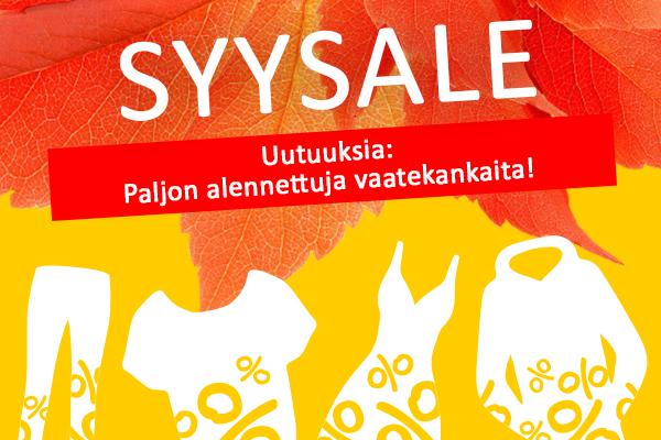 Nyt kankaita.comissa: Syysale mahtavilla tarjouksilla