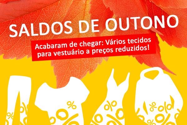 Agora na tecidos.com.pt: Saldos de outono com ofertas fantásticas