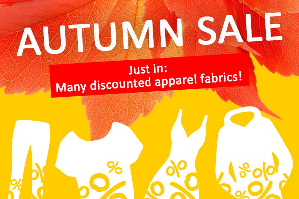 Currently on at myfabrics.co.uk: the Autumn Sale with monumental offers