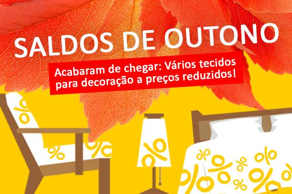 Novos tecidos para decoração a preços de saldo - agora na tecidos.com.pt