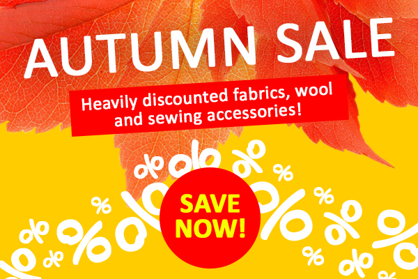 Secure your favourite fabric in the Autumn Sale!
