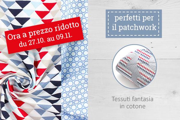 Perfetti per il patchwork: sono i nostri tessuti in cotone