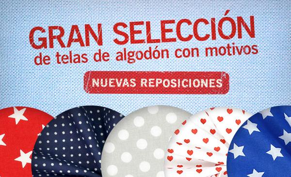 Nuevas reposiciones: Telas de algodón en colores y diseños diferentes