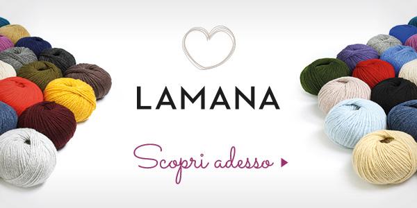 Dall'assortimento di lane di tessuti.com: i filati del marchio Lamana