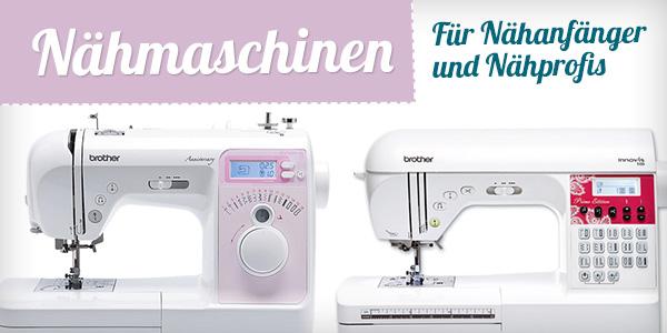 Nähmaschinen bei stoffe.de - für Anfänger und Fortgeschrittene