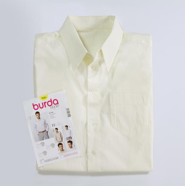 Schnittmuster des Monats: Herrenhemd, Burda 7045