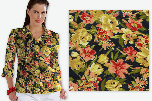Blouse Vintage Flower 2