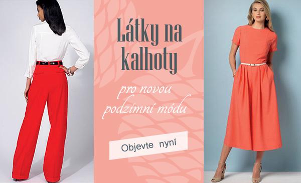 Látky na kalhoty - pro každý model ten pravý materiál na latka.cz.