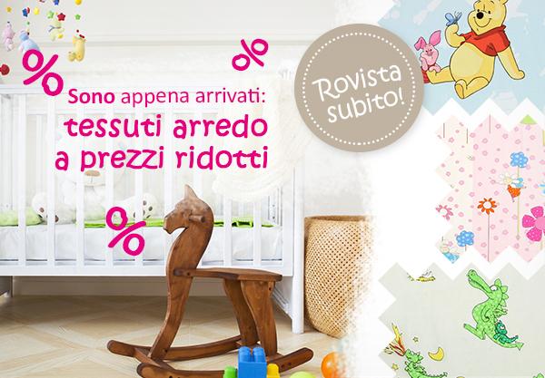 Sono arrivati tanti tessuti arredo per bambini a prezzi for Tessuti arredo on line