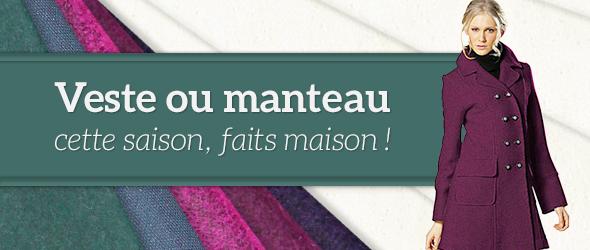 Vestes et manteaux - des tissus adaptés sur tissus.net
