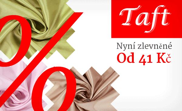 Sáhněte nyní po své nejoblíbenější látce - zlevněné taftové látky na latka.cz