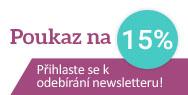 Přihlaste se k odběru newsletteru a získejte poukaz na 125 Kč!