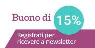 Abbonarsi alla newsletter e ricevere un buono di 5€!