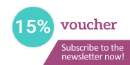 Subscribe to the newsletter and receive a £5 voucher!