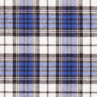 Baumwollflanell Holzfällerkaro – königsblau