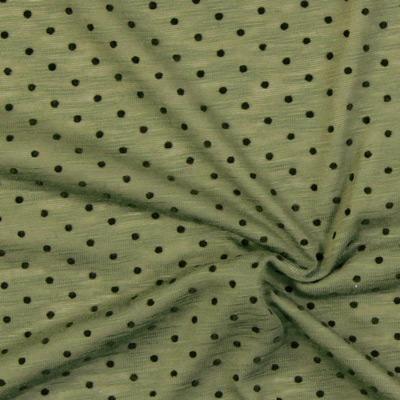 Tkaniny dżersejowe w groszki