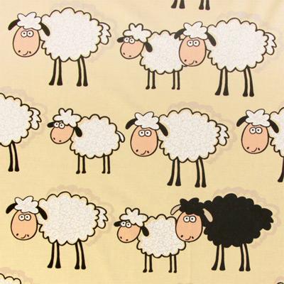 2 lustiga bomullstyger med djurmotiv