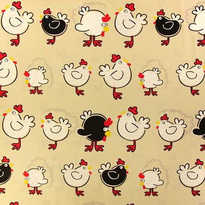 2 divertidas telas de algodón con animales