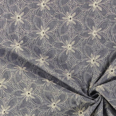 Fabrics featuring eyelet embroidery have arrived!