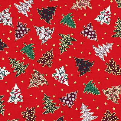 Sternenhimmel Weihnachtsstoff rot gold Baumwolle 50 cm Weihnachten Sterne