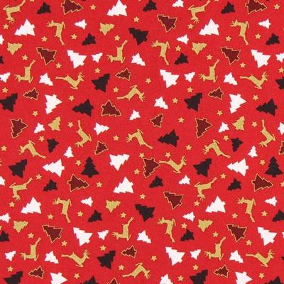 Cretona Bosque de invierno – rojo