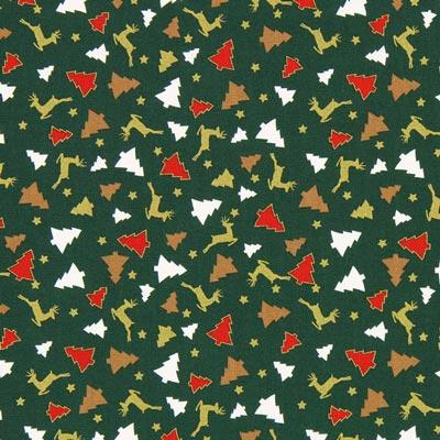 Cretona Bosque de invierno – verde oscuro