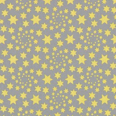 Cretona Estrella navideña dorada – gris