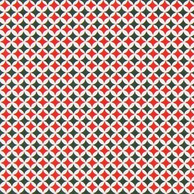 Cretonne Weihnachtlicher Print - rot