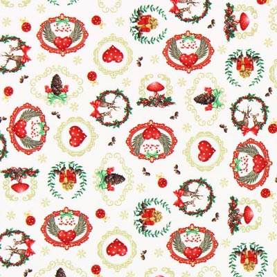 Cretona Es Navidad – blanco lana