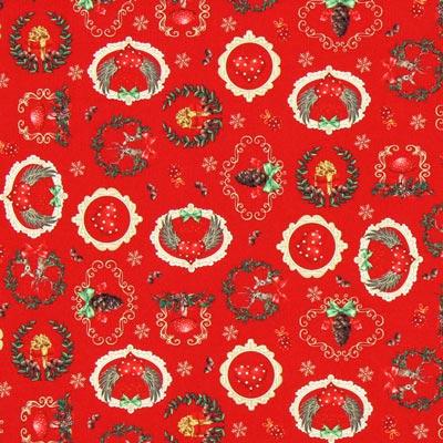Cretonne es Weihnachtet sehr - rot
