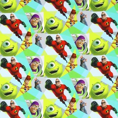 Katoenjersey Toy Story helden