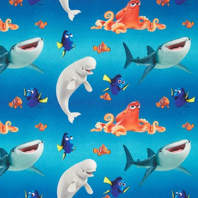 Disney katoenen stof Nemo en vrienden