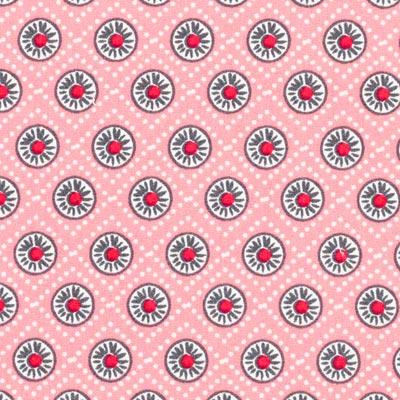 Popeline madeliefjes 4 – roze