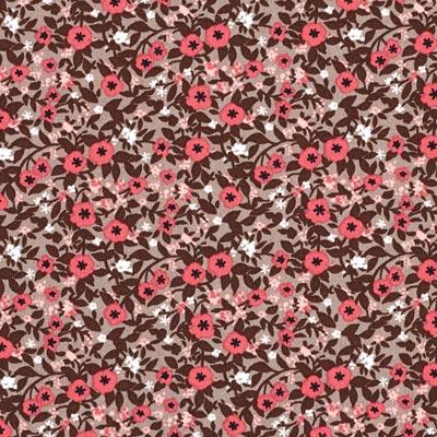 Popeline bloemenranken 1 – purper