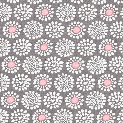 Popeline bloemenbetovering 4 – roze