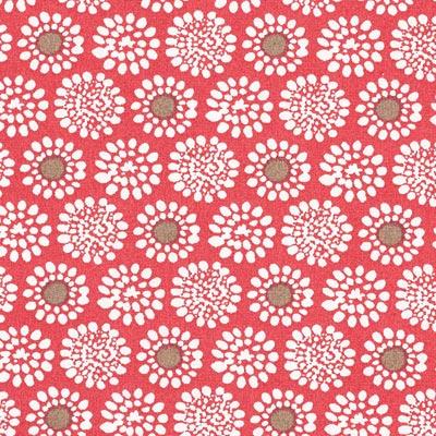 Popeline bloemenbetovering 1 – rood