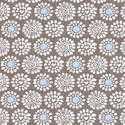 Popeline bloemenbetovering 3 – lichtblauw