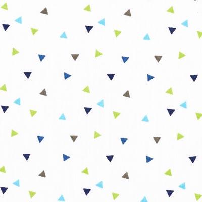 Popeline kleine driehoeken 3 – wit