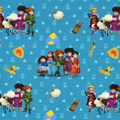 Katoenjersey Robin Hood vrienden