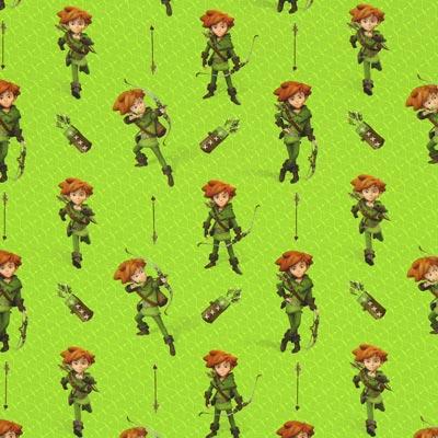 Katoenjersey Robin Hood boogheld